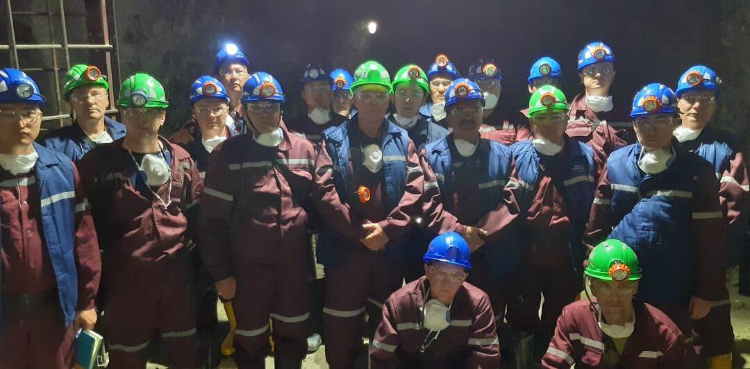 Рабочая группа на руднике Долинном